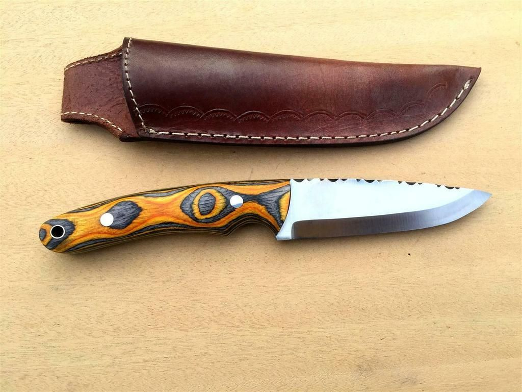 Custom Handmade 5160 High Carbon Steel Scandi Grind Bush Craft Knife Knife Craft Knives High Carbon Steel