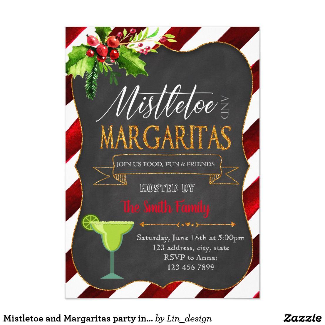 Mistletoe and Margaritas party invitation | Zazzle.com