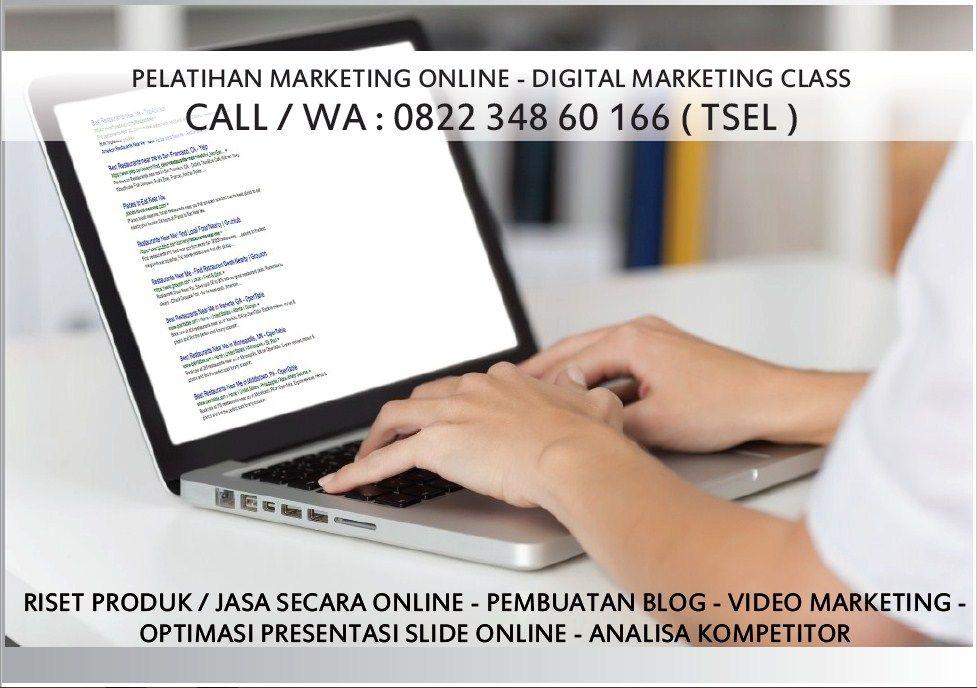 Wa 0822 348 60 166 Pelatihan Online Marketing Medan Latihan Pemasaran Online Blog
