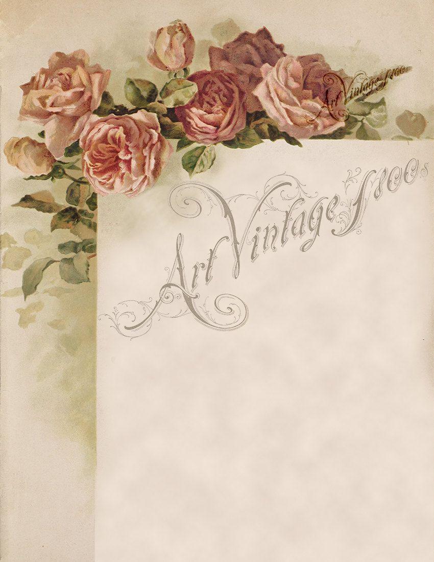 FRAME02 Roses instant Digital download image printable