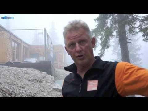 Baustellenbesuch Höllentalangerhütte im  - 7 Wochen vor der Eröffnung En...