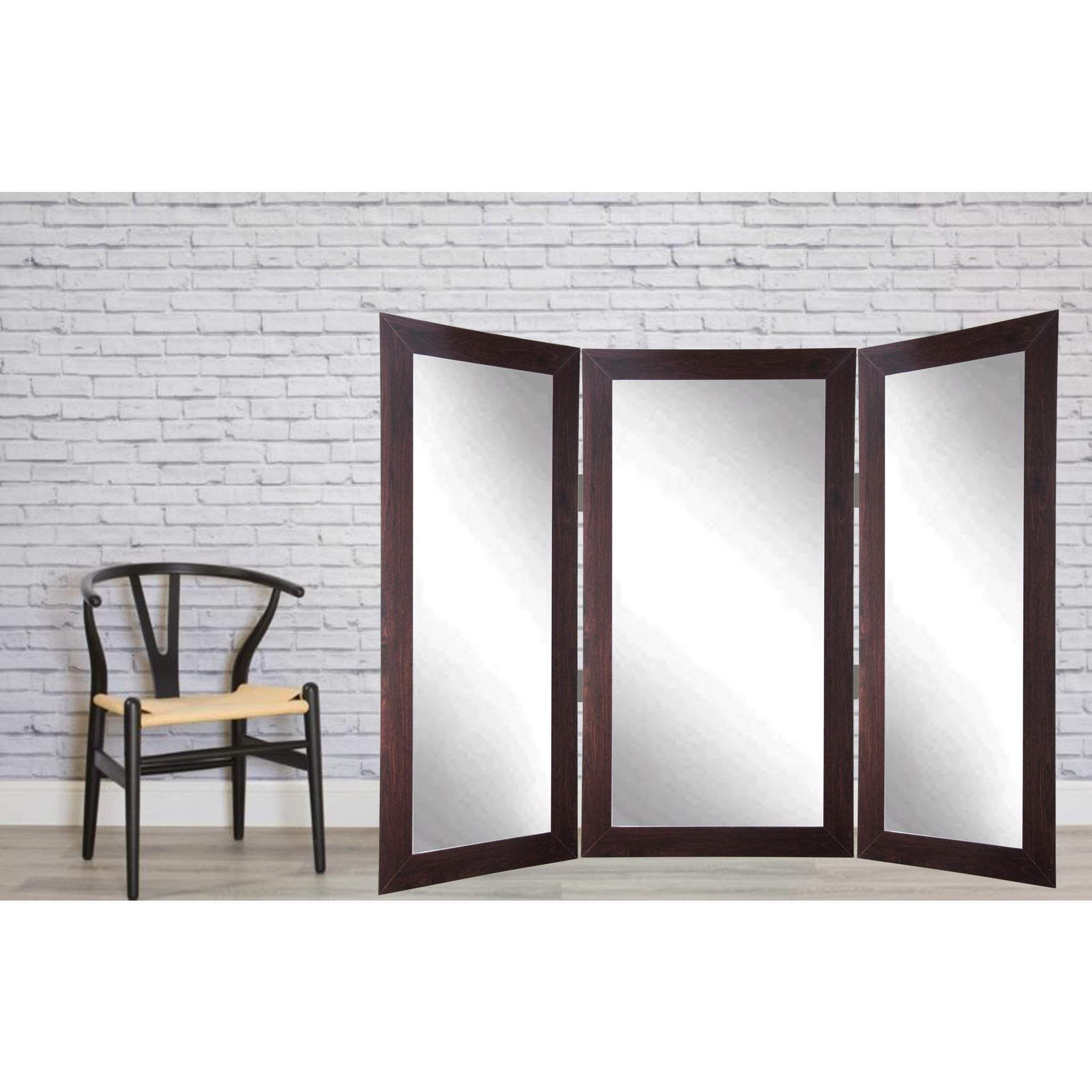 Brandt Works Dark Walnut Tri Fold Dressing Mirror Hand Crafted To Enhance The Functionality And Style In Your Home This Free Dressing Mirror Home Floor Mirror