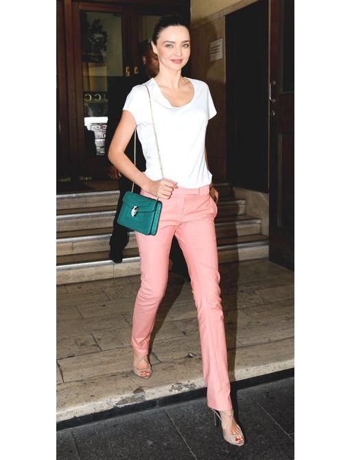 Miranda Kerr looks sup a fresh in this chic ensemble