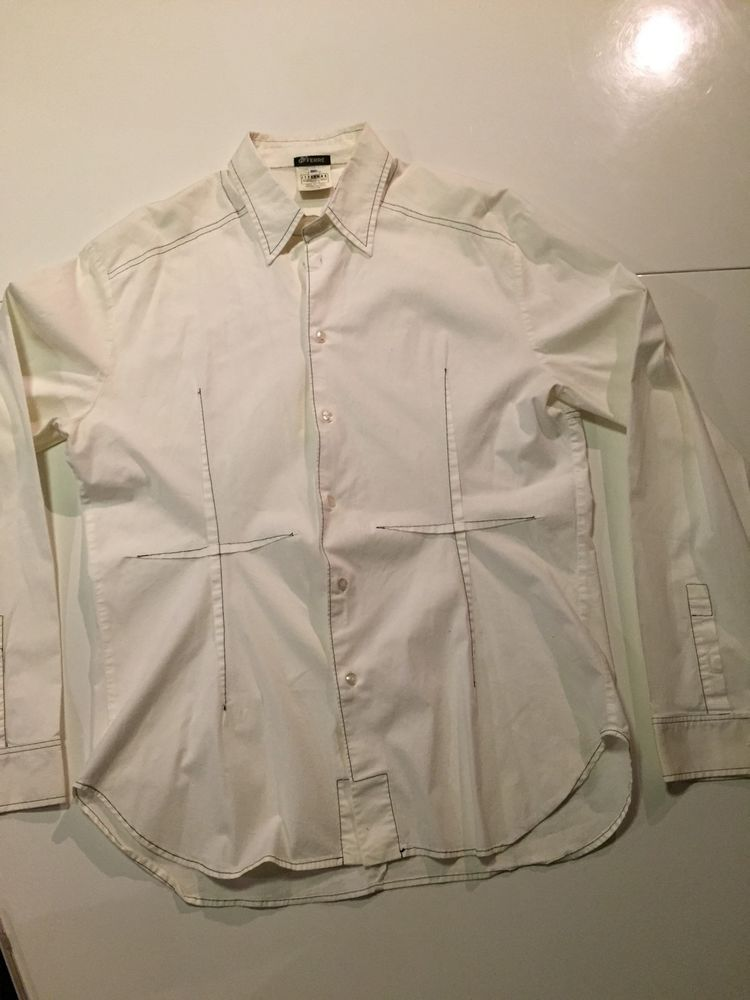 d06793bb01 Gianfranco Ferre GFF White Button Down Shirt For Men Size M-L Made In Italy   GianfrancoFerre