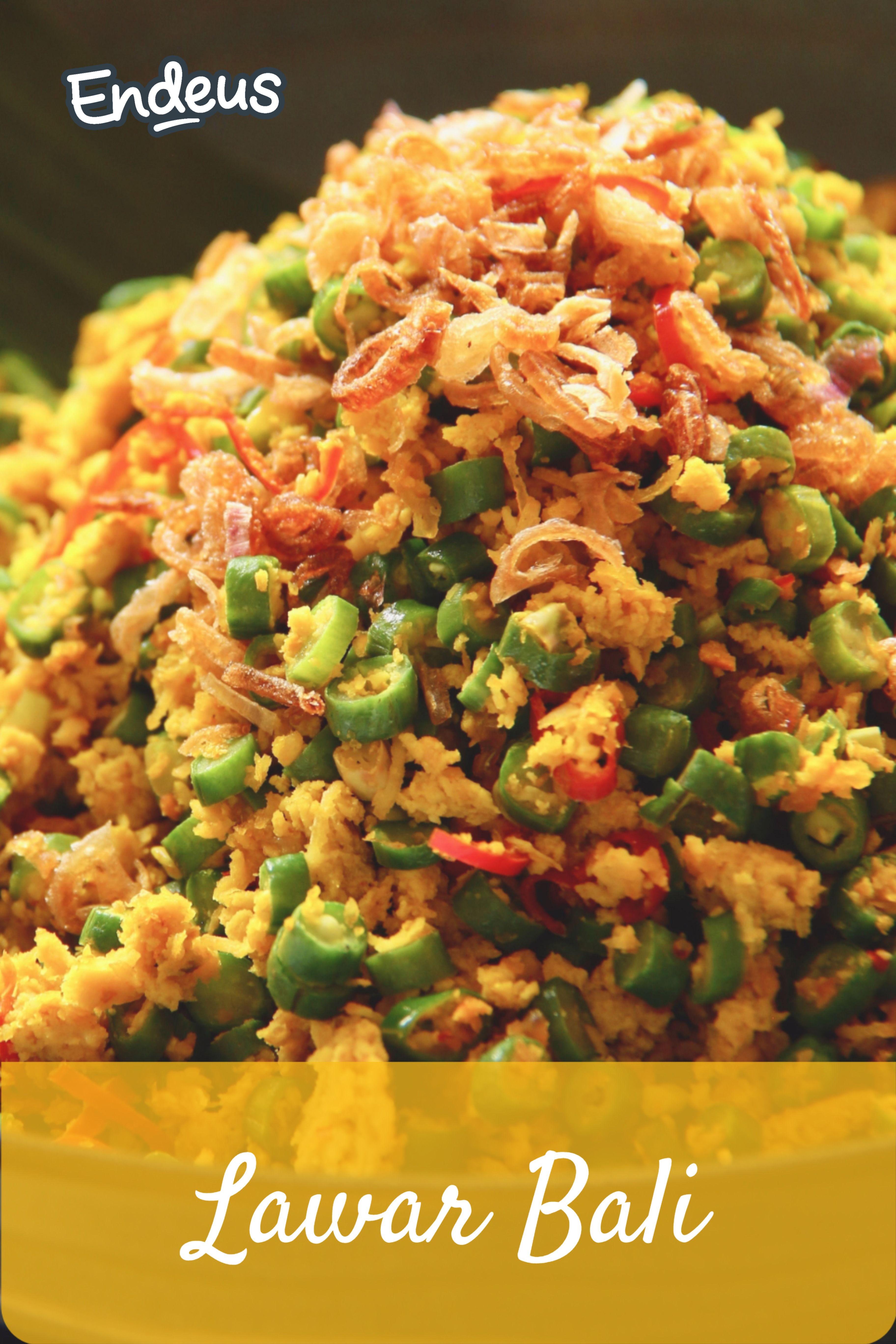 Resep Lawar Bali Resep Resep Makanan Resep Ayam