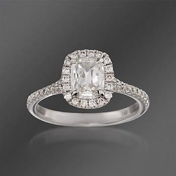 Henri Daussi 1.07 ct. t.w. Diamond Engagement Ring in 14kt White Gold