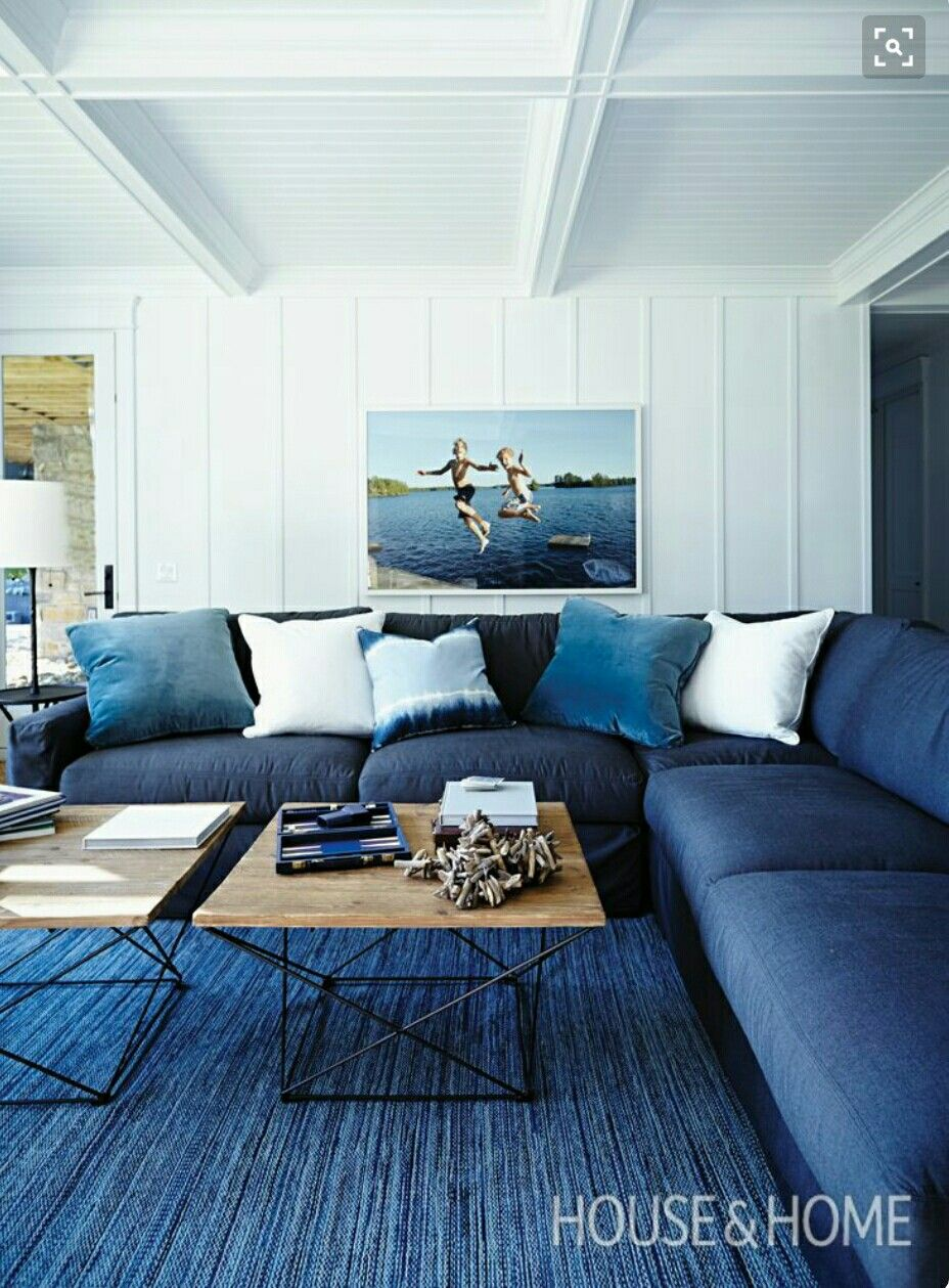 Pin By Amy Zweiback On Beach House Blue Living Room Living Room Color Living Room Color Schemes