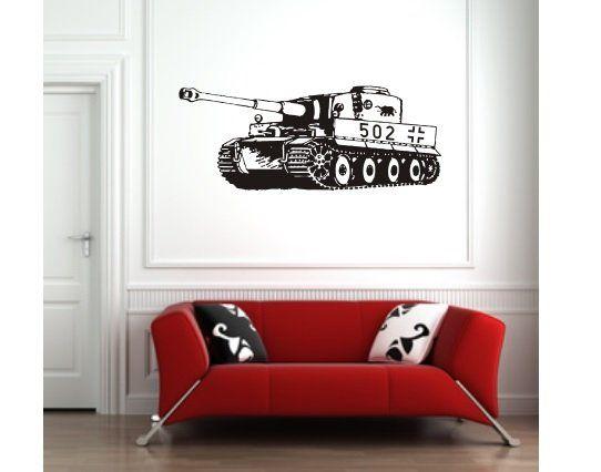 Elegant Wandtattoo Tiger Panzer sPzAbt selbstklebend Das Wandtattoo ist selbstklebend und wird inklusive einer Tr ger und bertragungsfolie geliefert ohne Sofa