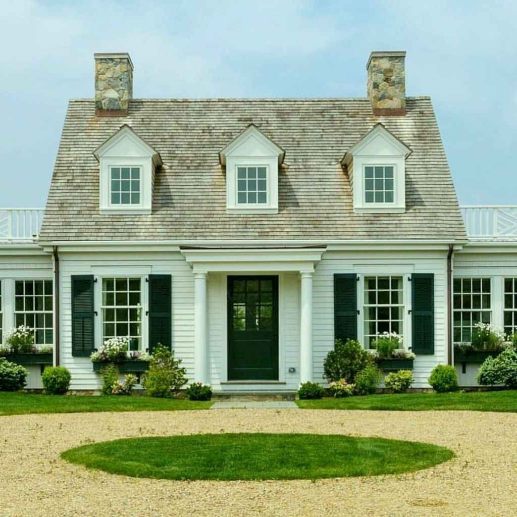 46 Conventional Cape Cod House Exterior Ideas Cape Cod House Exterior House Exterior House Styles