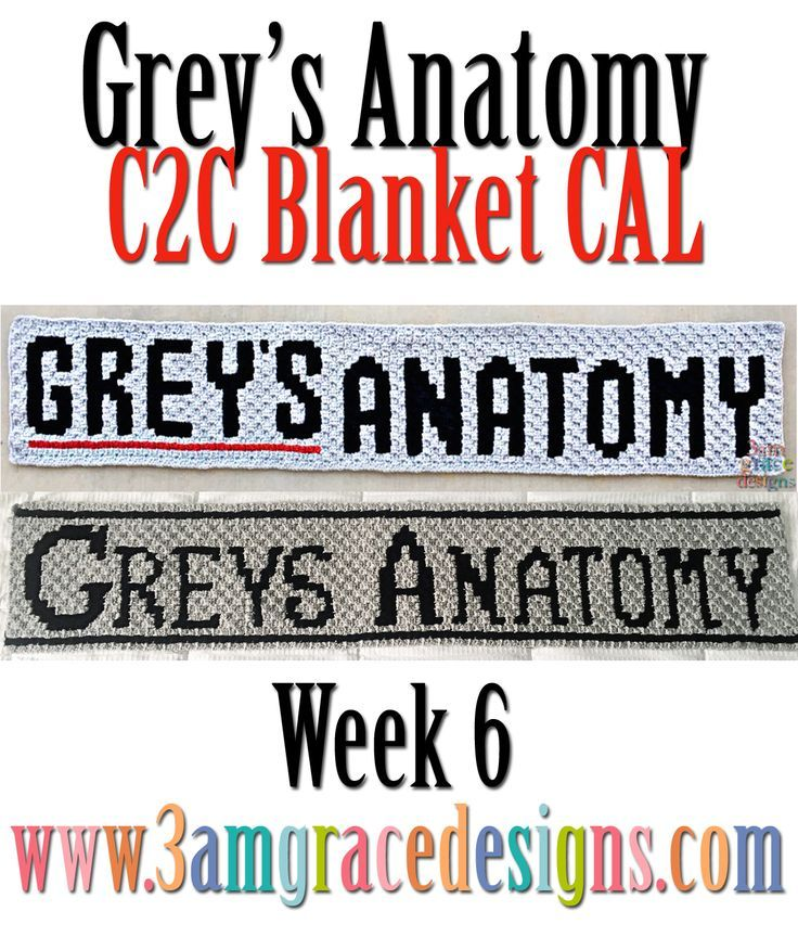 Grey\'s Anatomy C2C CAL - Week 6 | Anatomy, Free crochet and Crochet