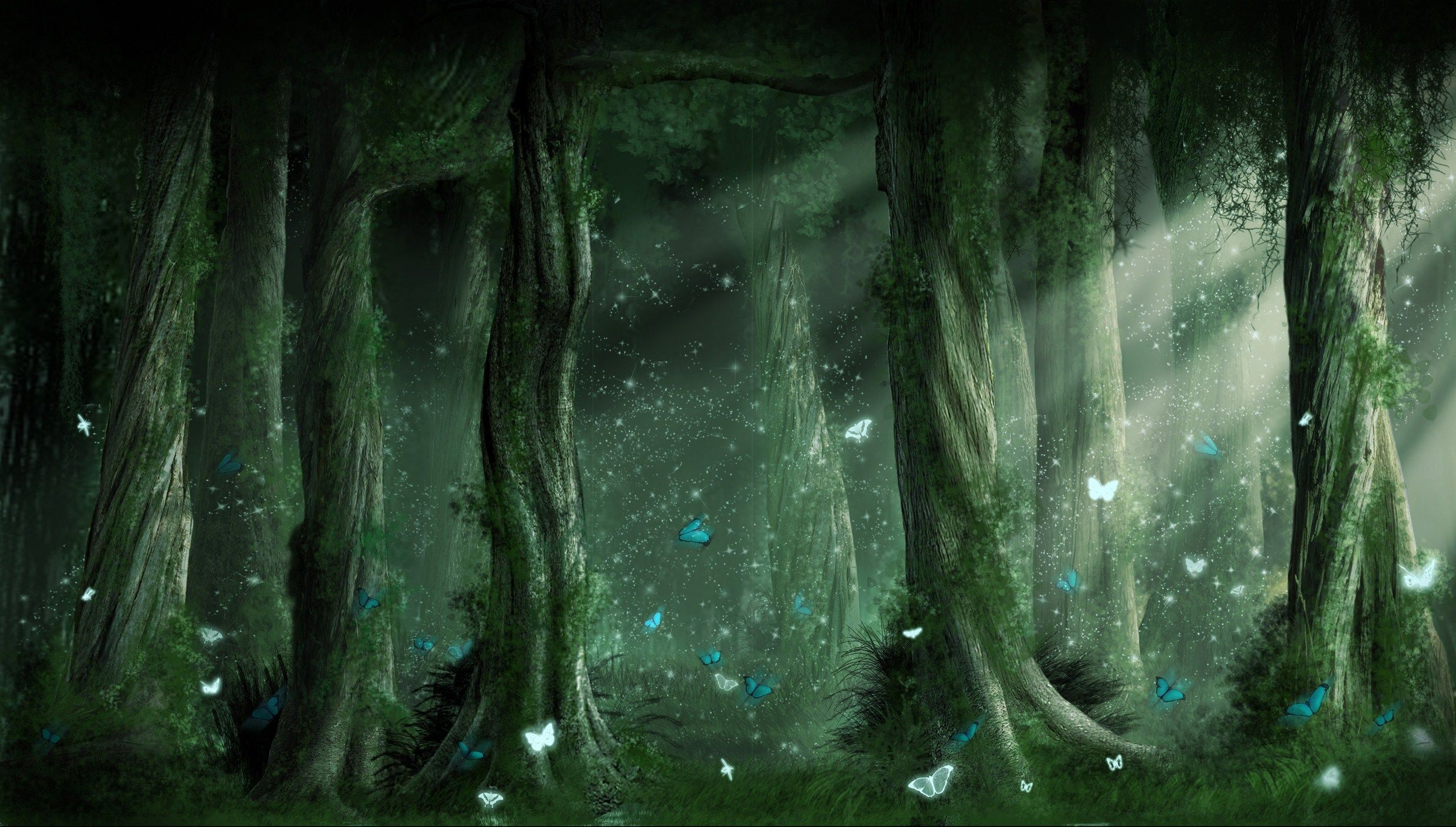 Fantasy Forest Fantasy Forest Wallpaper Background 2481 X 1409 Id 129281 Forest Background Fantasy Forest Fantasy Background