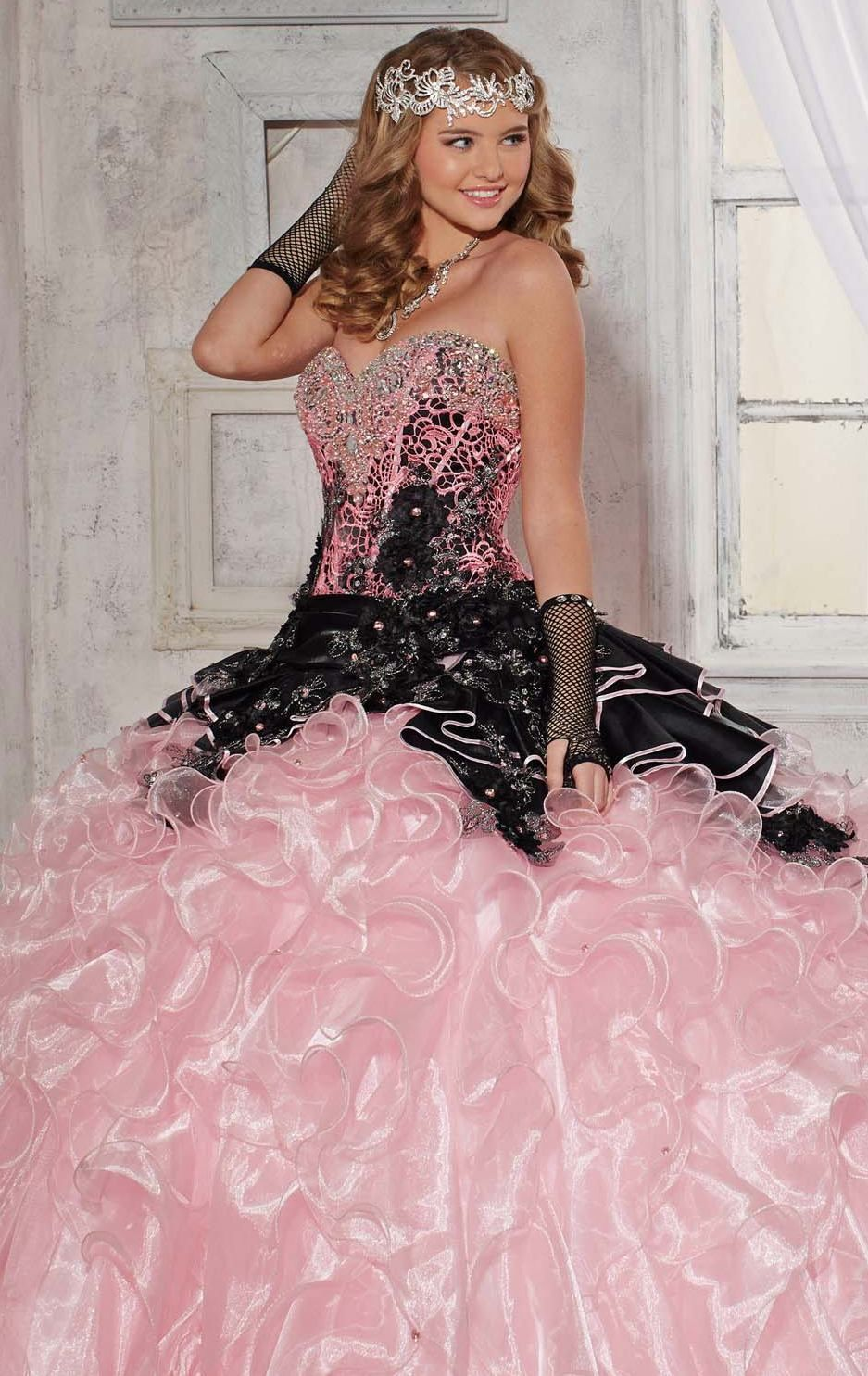 Awesome Pink Black Quinceanera Dresses Perfect Design Dazzling ...