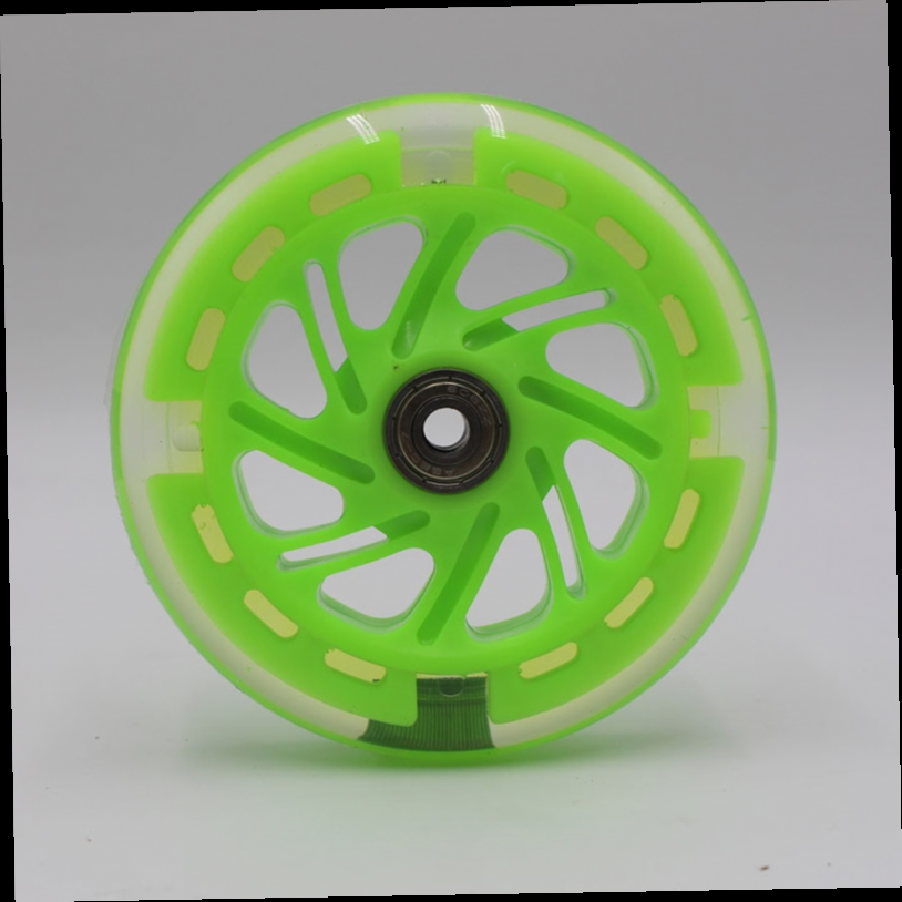 43.00$  Buy here - http://ali0a4.worldwells.pw/go.php?t=32765436300 -  High quality / skating PU wheels /wheel scooter flashing wheel 120 * 24   8 pcs/ Lot 80a