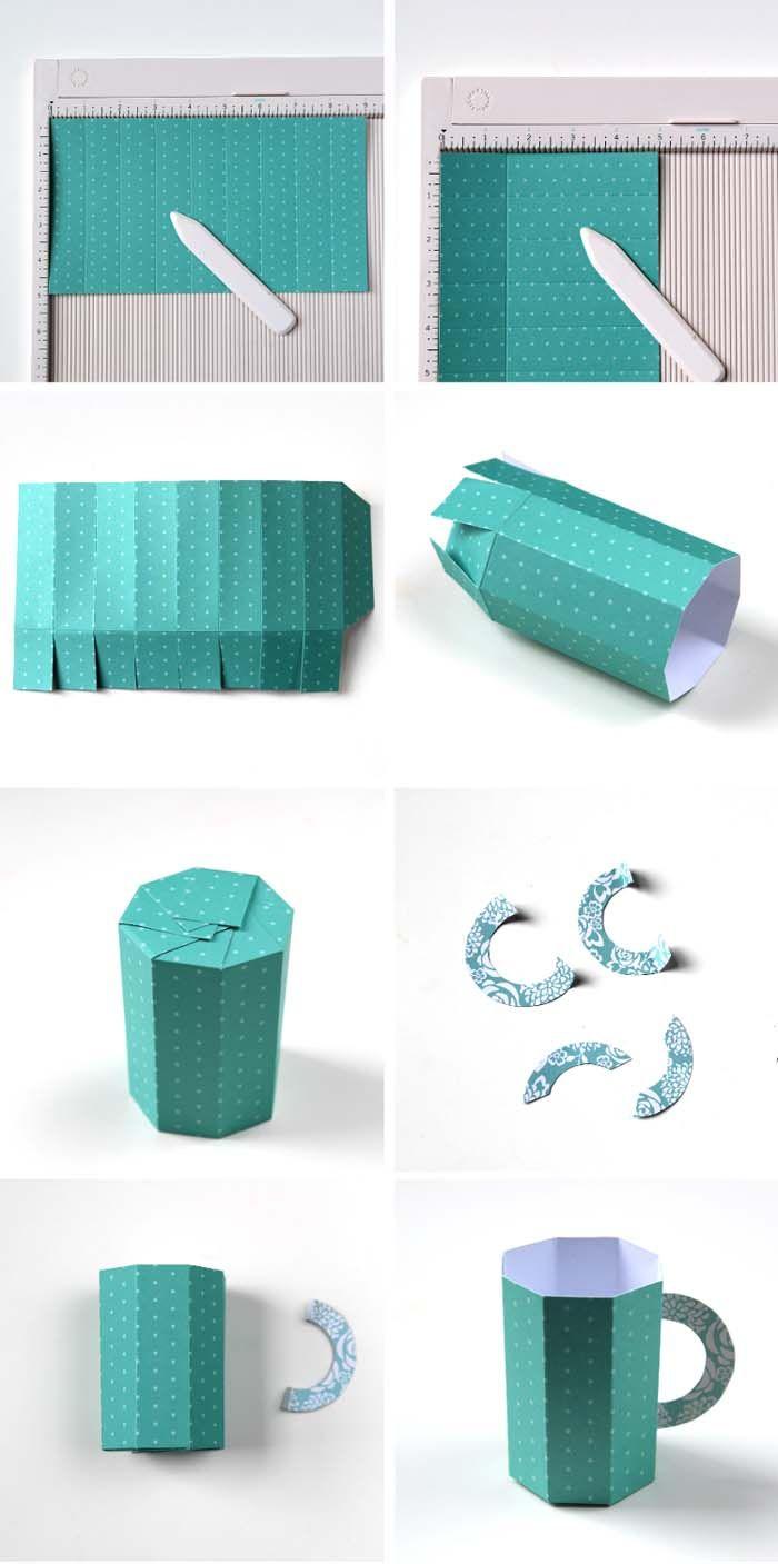 Geschnkbox Basteln Geschnkideen Diy Deko Upcycling Ideen Tasse Selber  Gestalten