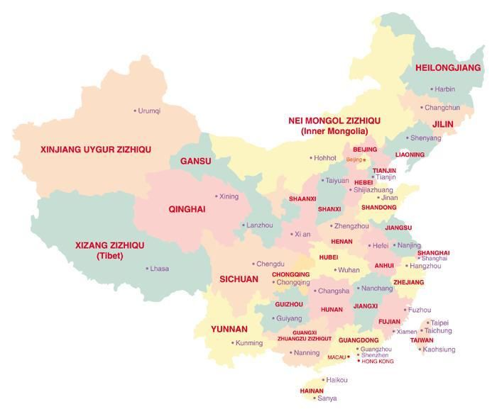Carte Chine Zhejiang.China Map And Other Cities Chinese Cities Map 2010 2011