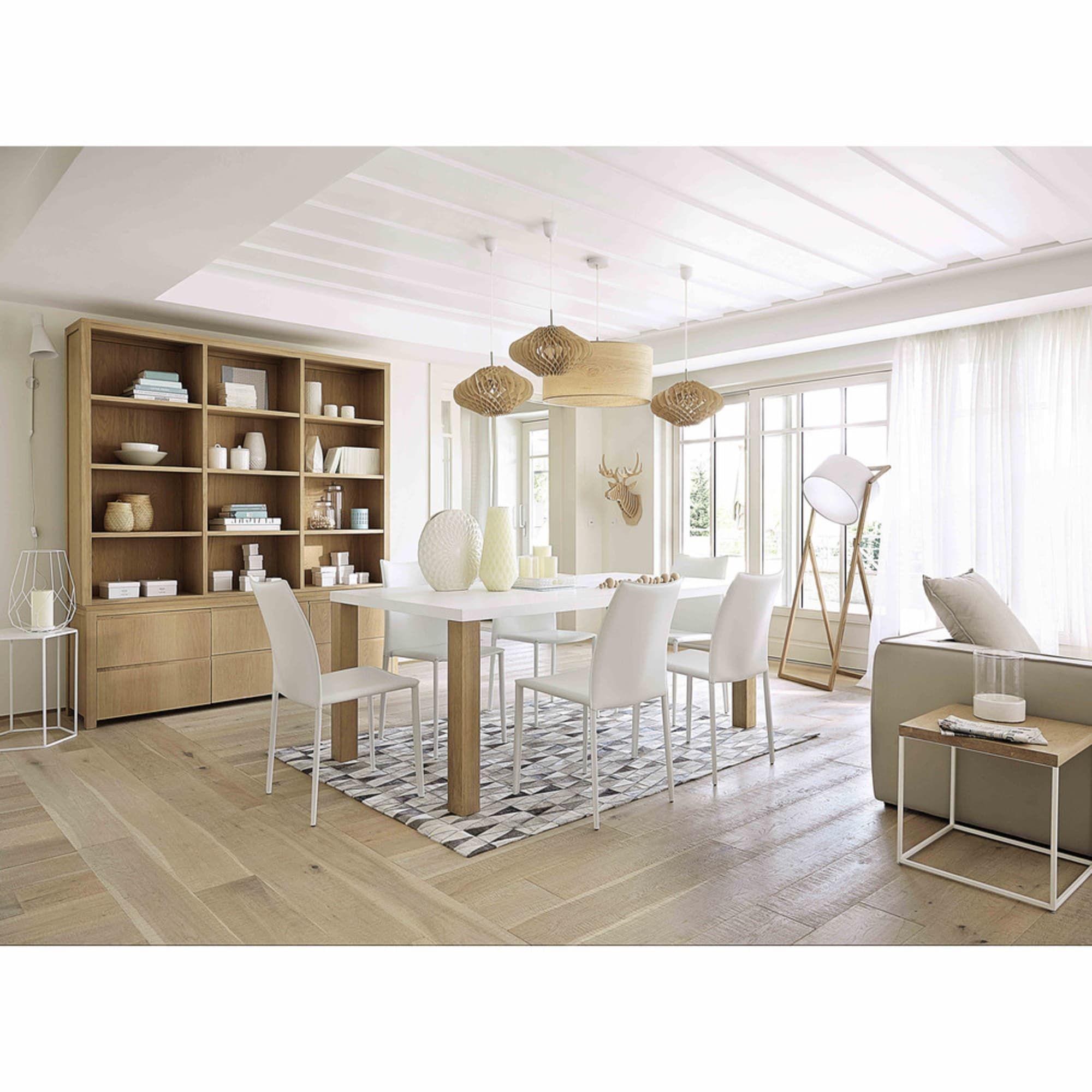 Chaise en synderme blanc Klint | Maisons du Monde