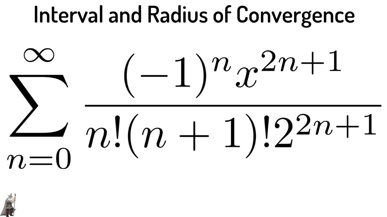 Interval and Radius of Convergence a Power Series using the Ratio