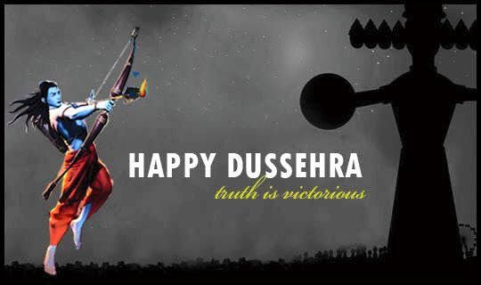 Dusshera signifies the victory of good over evil. May all the evils in and around you vanish by the virtue of the goodness in and around you. HappyDussehra