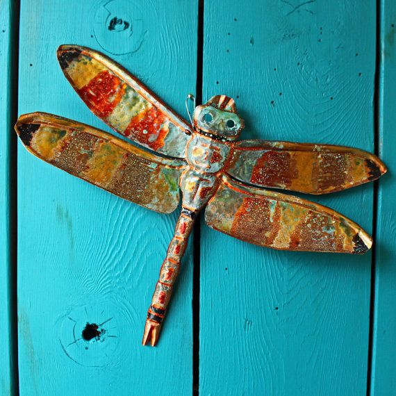Copper Dragonfly Sculpture  @Brad Beck