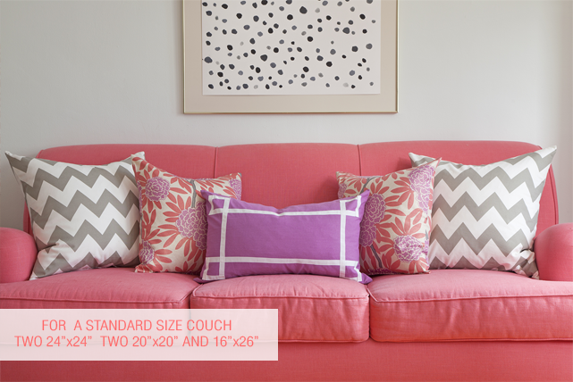 What Size Pillows For Your Sofa Cushions On Sofa Pillow Sizes