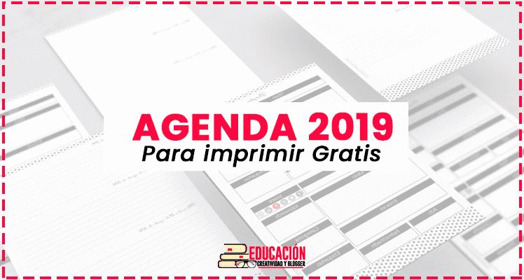 Agenda 2019 Para Imprimir En PDF【Descargar Gratis