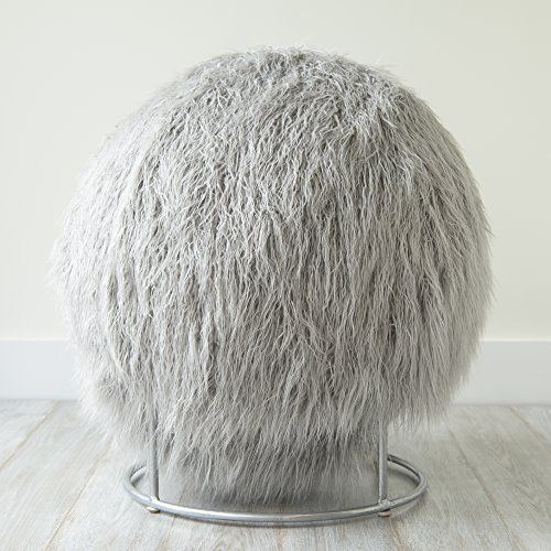 Mongolian Lamb Faux Fur Yoga Ball Chair