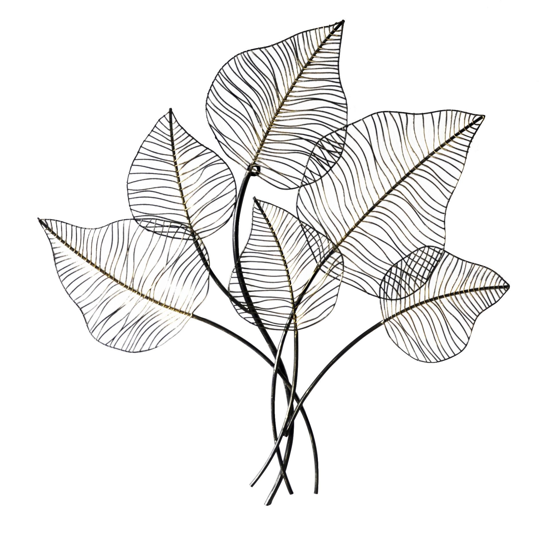 amazing Metal Leaves Wall Decor Part - 18: Metal Leaf Wall Décor