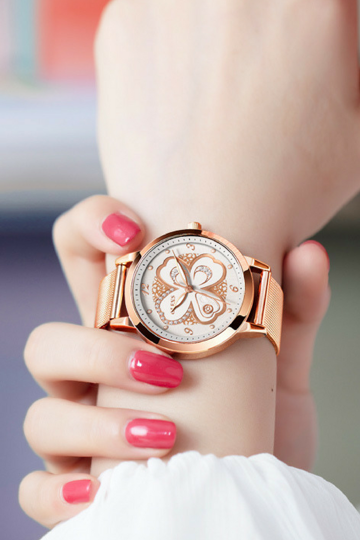 Women rose gold watches female watch luxury brand stainless steel