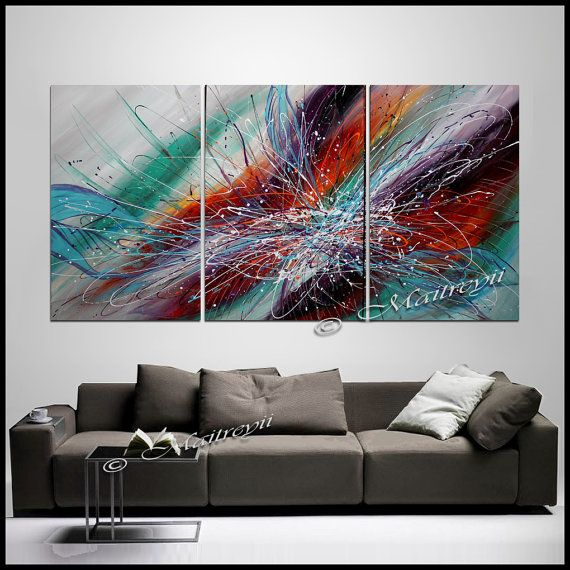 Hey, I found this really awesome Etsy listing at https://www.etsy.com/listing/235153702/triptych-large-wall-art-abstract