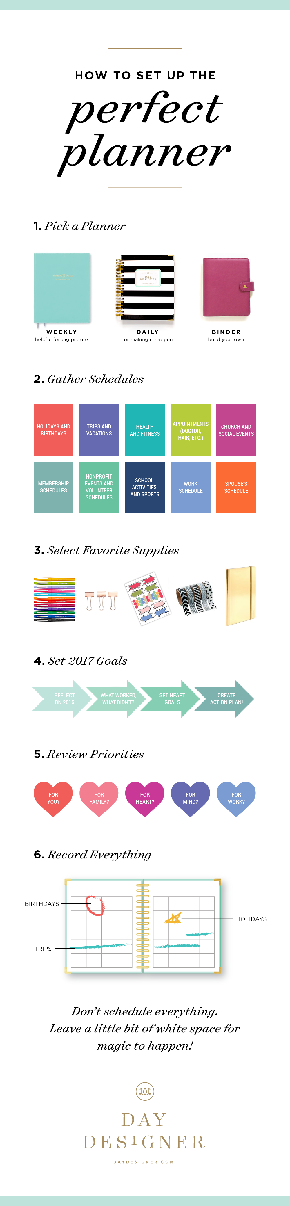 how to set up the perfect 2017 planner choose weekly daily or a