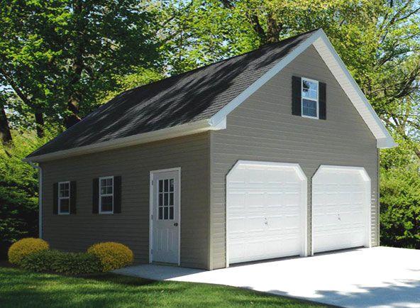 24x24 Vinyl Custom Garage Garage in 2019 Metal garage