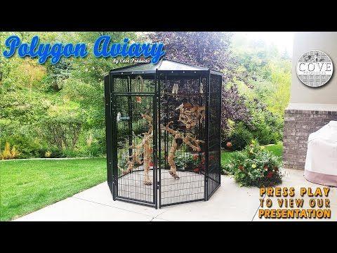 Walk In Bird Aviary - Polygon Aviary - YouTube