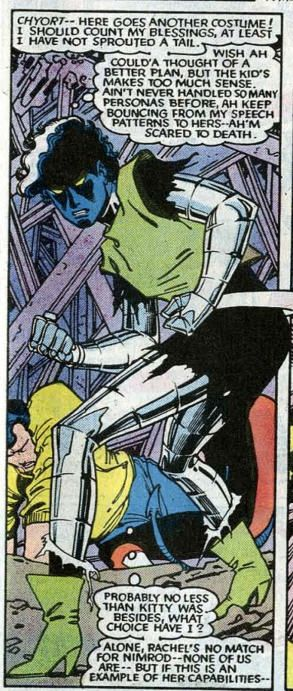 Rogue Having Absorbed The Powers Of Nightcrawler Colossus And Shadowcat From Uncanny X Men 194 June 1985 Nightcrawler Comics X Men