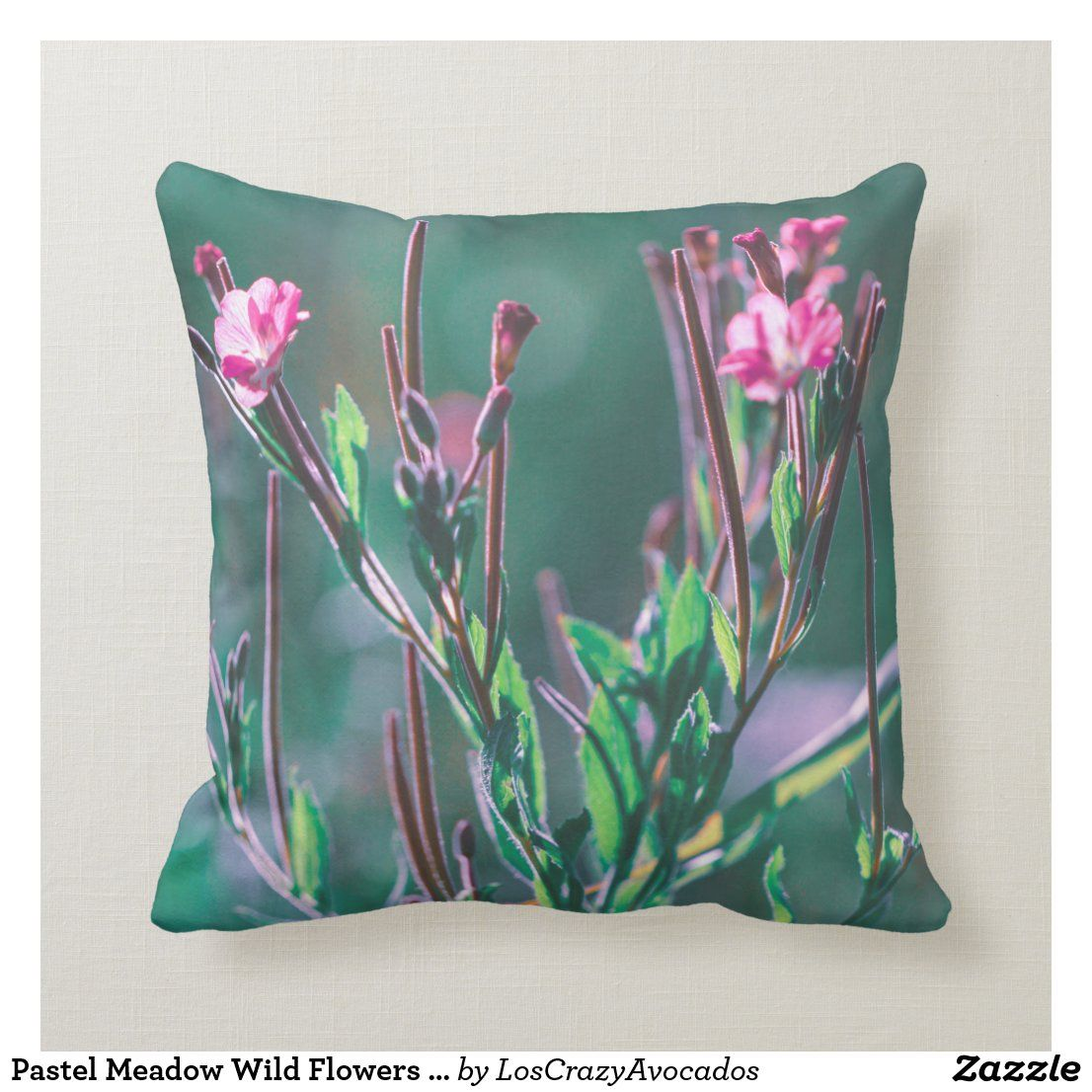 Pastel Meadow Wild Flowers Nature Pillow Cushion In 2020 Natural Pillows Floral Pillows Pillow Cushion