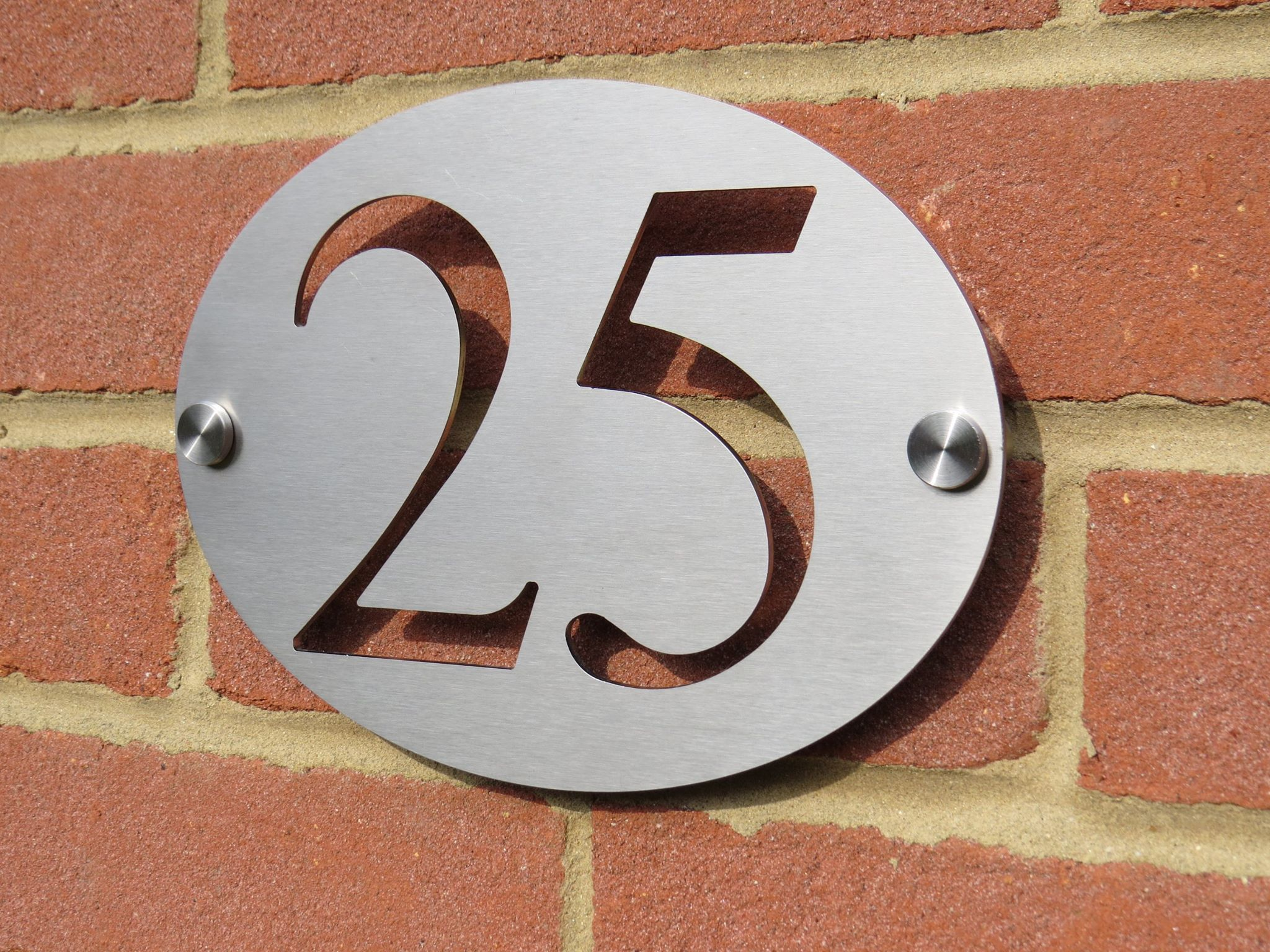Stainless Steel House Number Home Signs Sheet Metal Fabrication Steel House