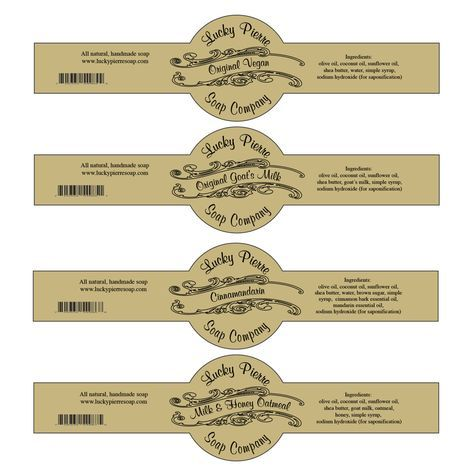 Free Printable Cigar Band Soap Label Template | DIY Home