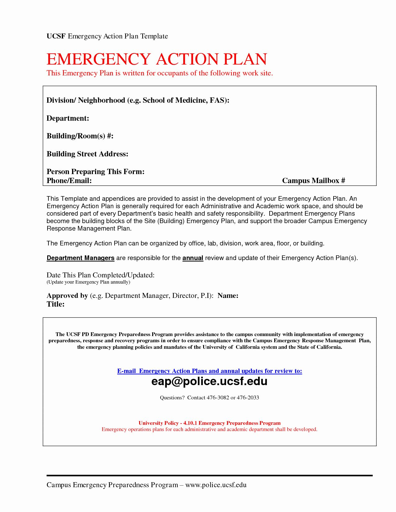 Incident Action Plan Template Inspirational Emergency