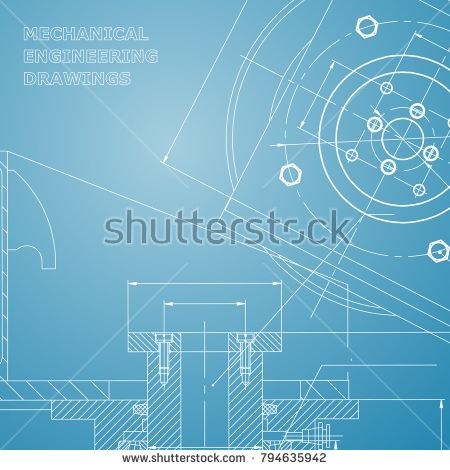 Mechanics technical design engineering style mechanical engineering style mechanical instrument making cover flyer blue and white malvernweather Images