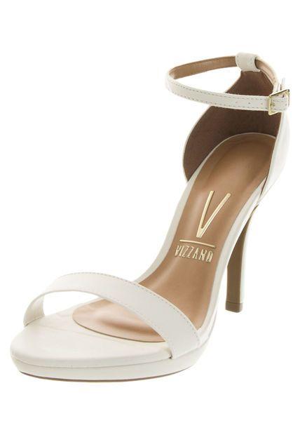 c19f0549d05 Sandalia Tacón Vizzano Blanco de Vizzano en Dafiti White Shoes