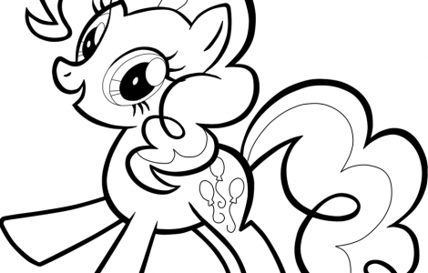 my little pony pinkie pie coloring pages  printable