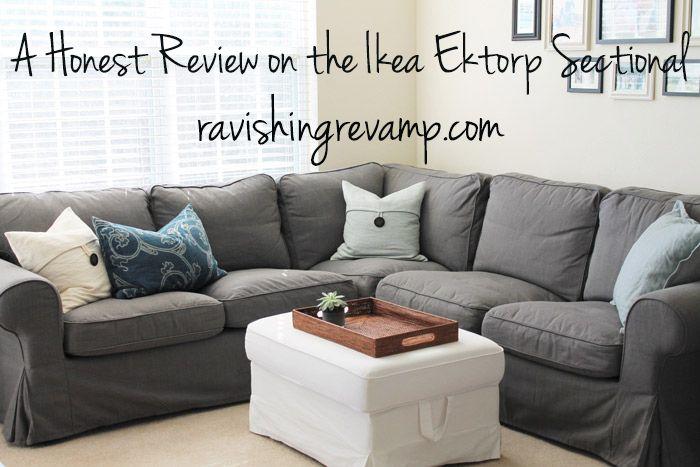 A Honest Review on the Ikea Ektorp Sectional Ravishing Revamp - ikea ektorp gra