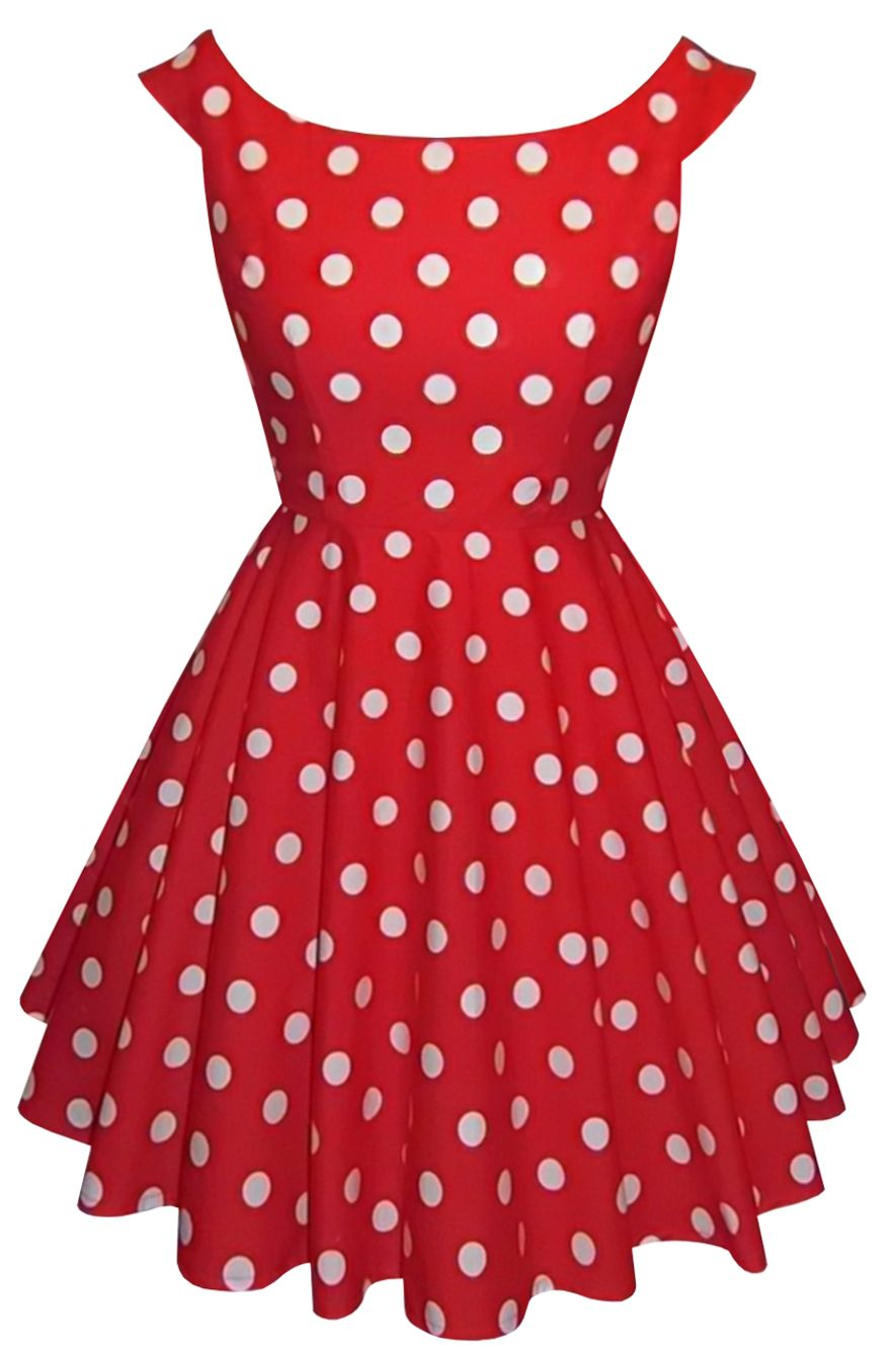 5fbf5e73703 1950s vintage style boat neck dress in classic red and white polka dot 50s  Pin Up