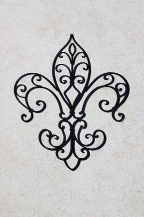 Black Wrought Iron Fleur De Lis Wall