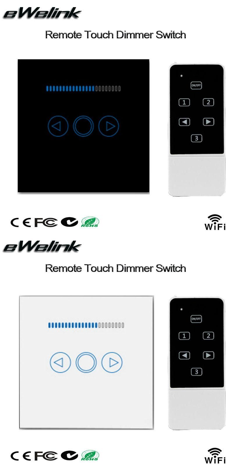 Smart Home Dimmer Smart Home Eu Wifi Dimmer Switch 220v Touch Panel Wireless Remote