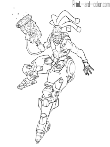 Overwatch Coloring Pages Overwatch Coloring Books