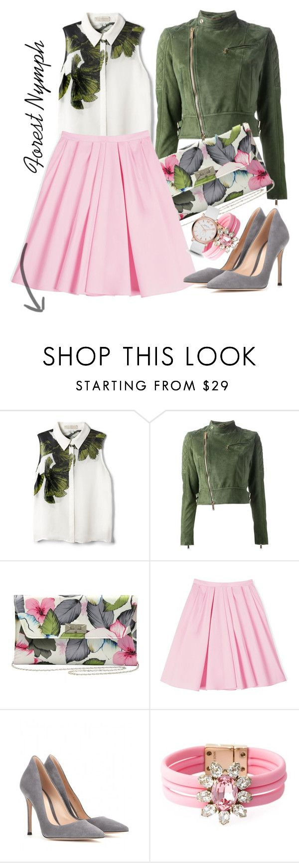"""""""Без названия #761"""" by funnygirl-1 ❤ liked on Polyvore featuring Elle Sasson, Dsquared2, M&Co, Carven, Gianvito Rossi, Shourouk and Marc by Marc Jacobs"""