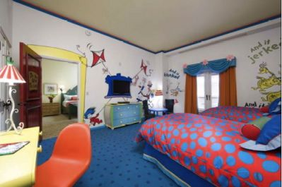 Dr Seuss Theme Room Decorating Ideas Website Bedroom Design Fun Polka Dots Cat In The Hat Wall Murals