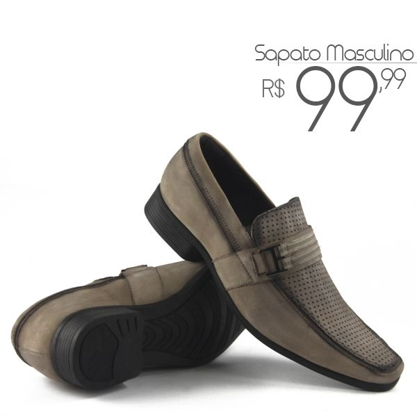036109e9ec Sapato Social Masculino em Couro Nobuck legítimo de R 150