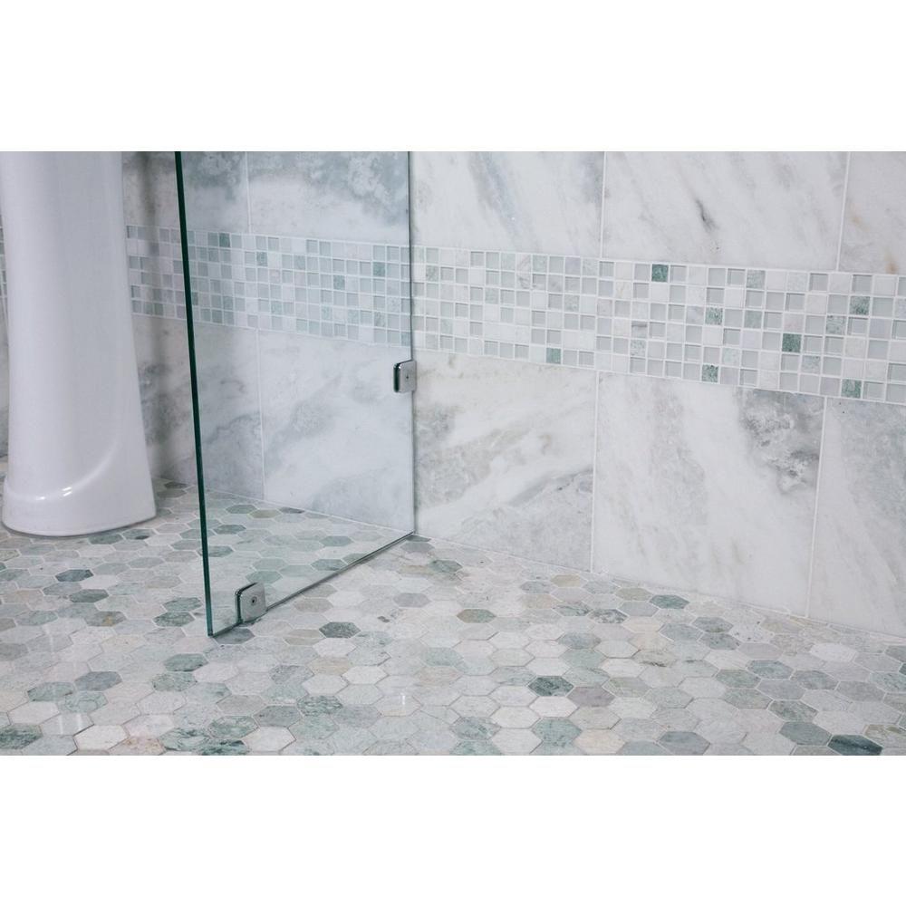 Caribbean Green Hexagon Tumbled Marble Mosaic Marble Mosaic