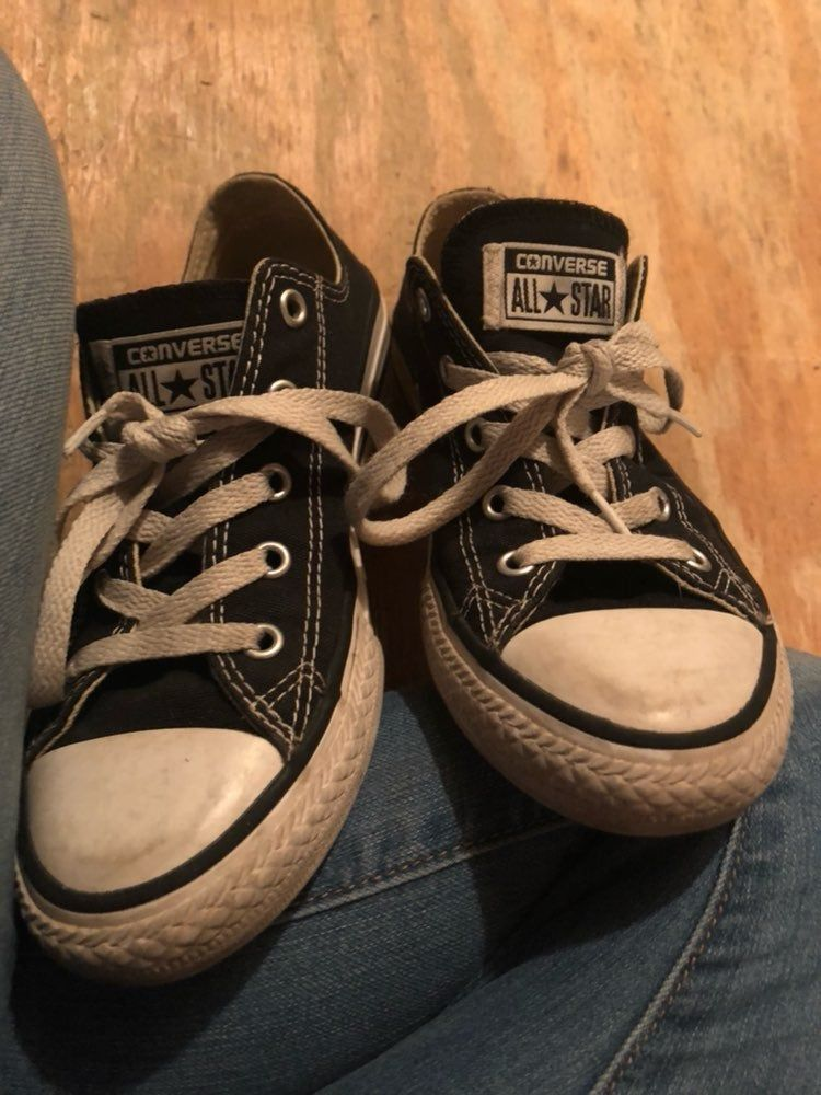 black and white converse sneakers size